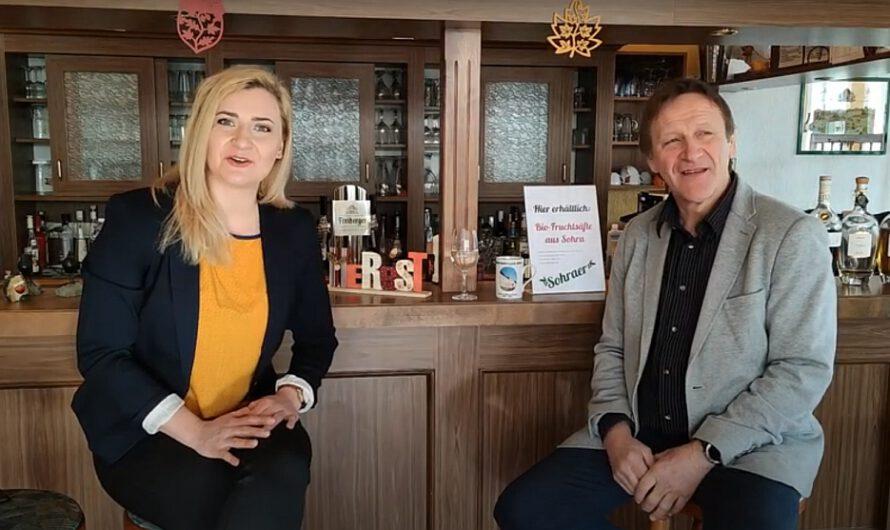 Bundestagsdirektkandidatin Carolin Bachmann im Unternehmergespräch mit Gastronom Jens Uhlemann