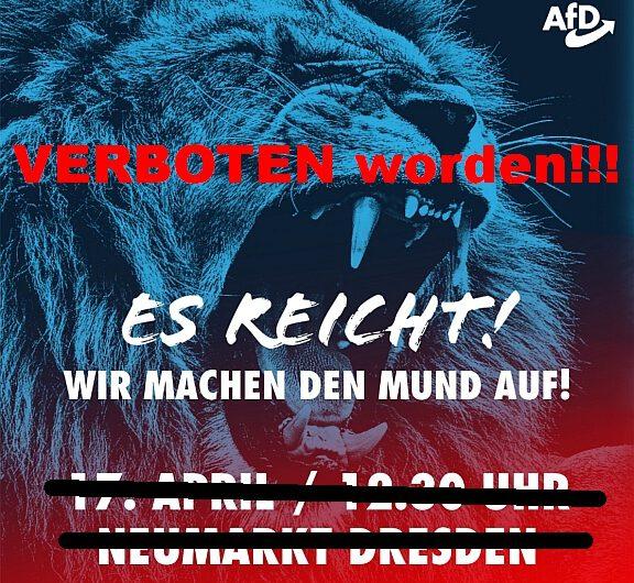 Untersagung der Kundgebung am 17. April in Dresden!