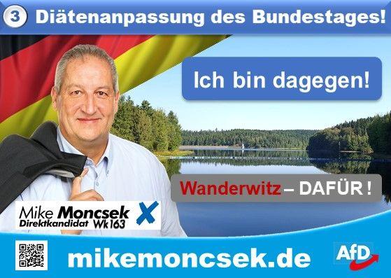 Mike Moncsek ist gegen die Diätenanpassung des Bundestags