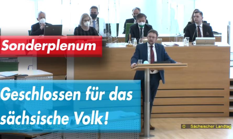 Sonderplenum im Landtag – Geschlossen für das sächsische Volk!