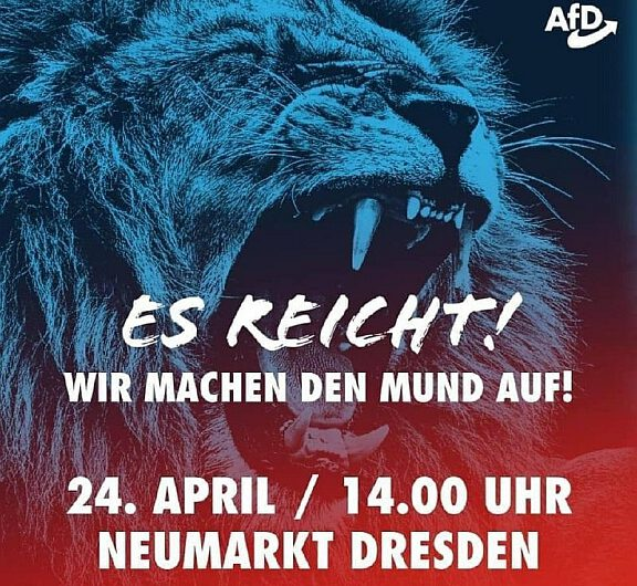 Es reicht! DEMO am 24. April in Dresden (MIT LIVE STREAM)