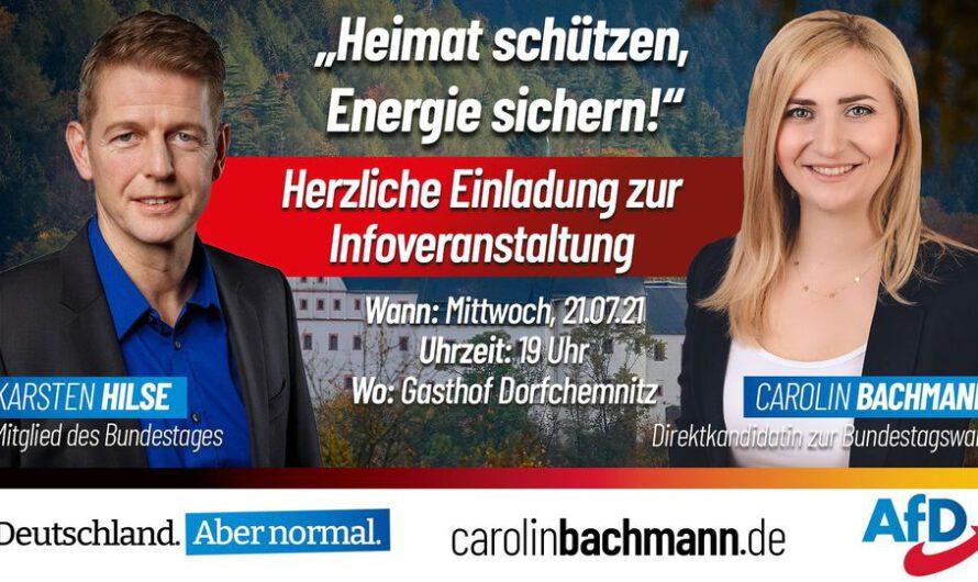 Heimat schützen, Energie sichern! – Bachmann, Hilse (MdB), Zwerg (MdL) in Dorfchemnitz