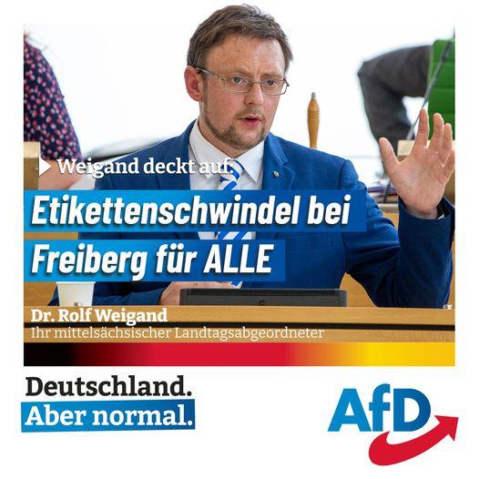"""Weigand deckt auf: Etikettenschwindel bei """"Freiberg für ALLE""""!"""