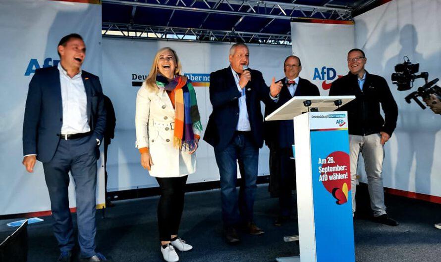 Erfolgreiche Kundgebung in Freiberg mit Tino Chrupalla – ein Eindruck von Direktkandidatin Carolin Bachmann (MIT VIDEO)
