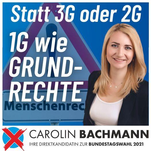 Nicht 3G, nicht 2G oder 1G wie Sonderrechte für Geimpfte. – Nein: Ich bin für 1G wie Grundrechte und Freiheit!