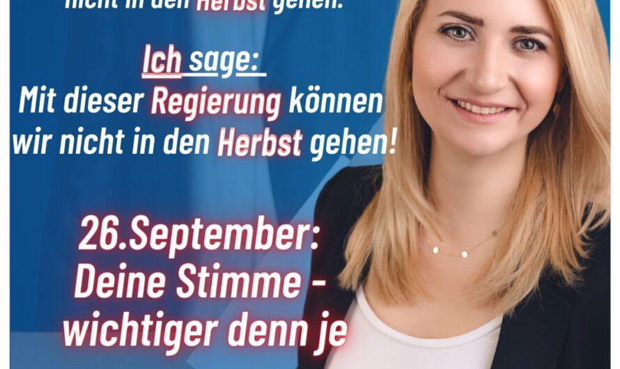 Carolin Bachmann: CDU undSPD abwählen. AfD undFreiheitwählen!